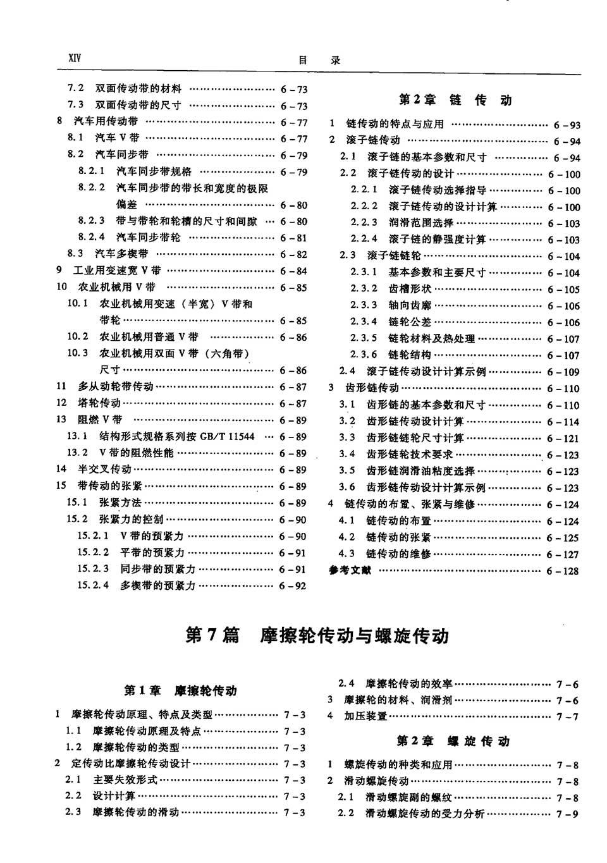 机械设计手册第2卷第7篇链传动目录4