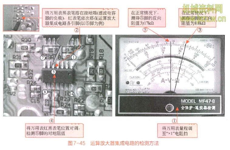 运算放大器集成电路的检测方法