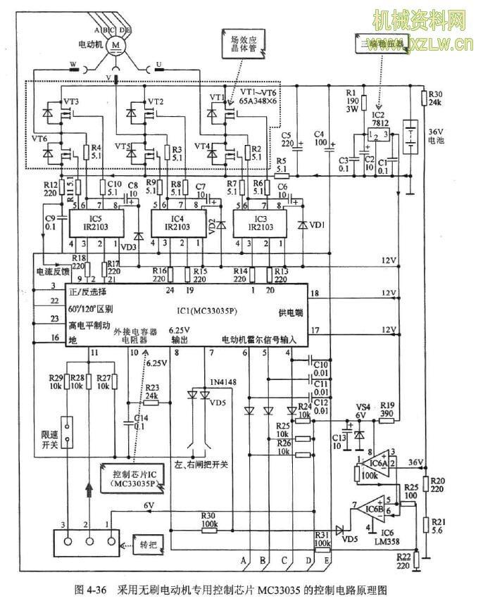 使电动机旋转,芯片mc33035的内部结构方