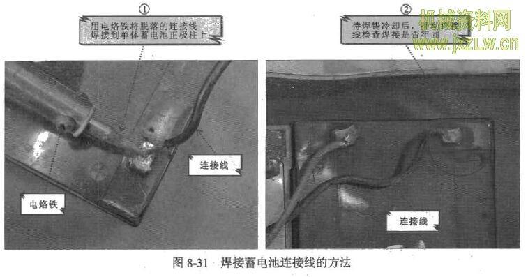 焊接蓄电池连接线的方法