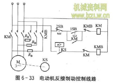 电动机反接制动控制线路