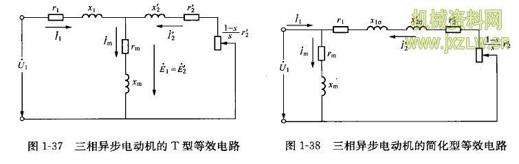 异步电动机的t型等效电路