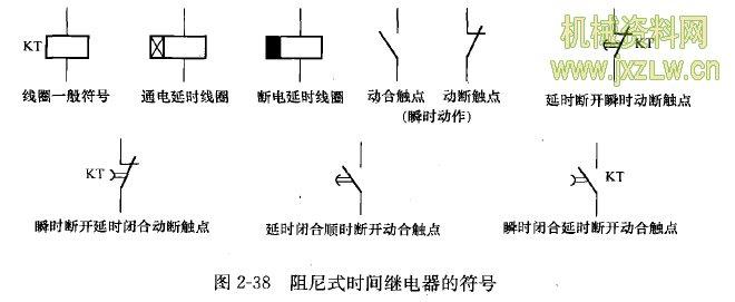 阻尼式时间继电器的符号