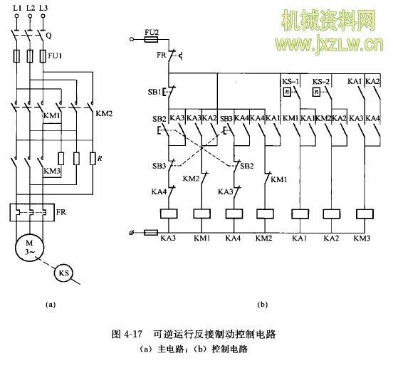 t68型卧式镗床主轴电动机反接制动控制